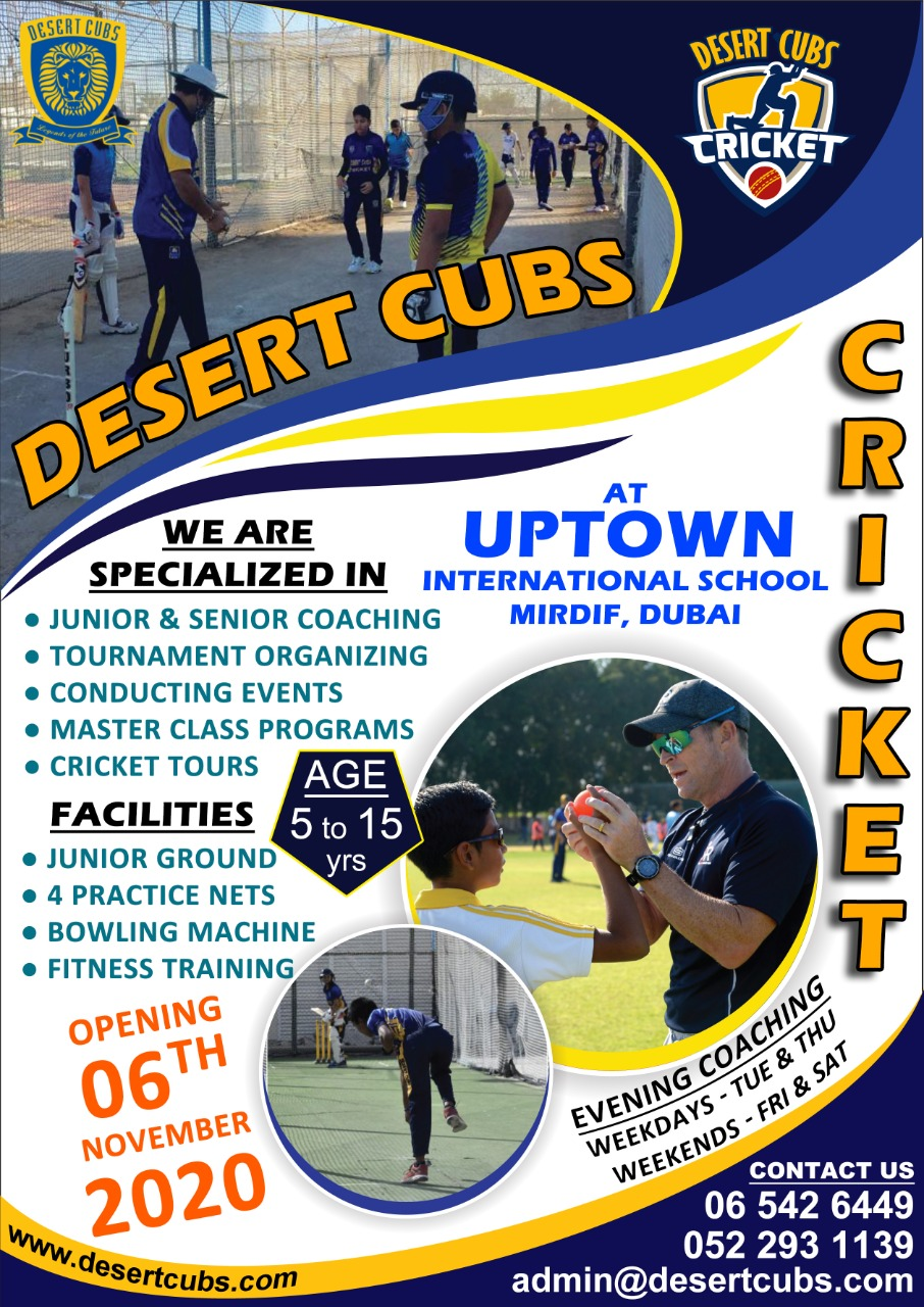 Cricket Coaching at Uptown International School