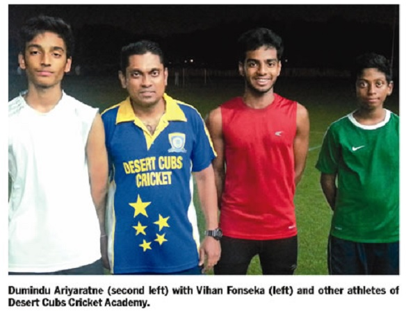 Former Lankan athletic champion is fitness coach for cricketers in UAE