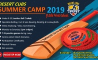 Desert Cubs Cricket Summer Camp 2019